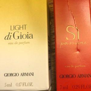 Giorgio Armani travel size scents NIB